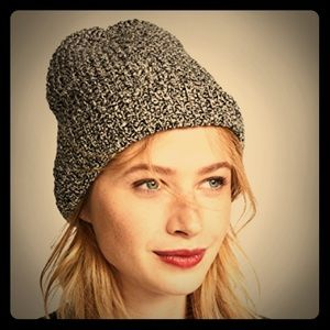 Madewell Billie Slouchy beanie in indigo multi